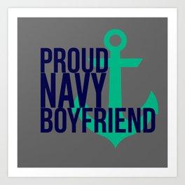 Proud Navy Boyfriend Art Print