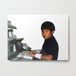 Hardcore coder with wrist band Metal Print