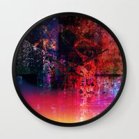 fargo Wall Clocks featuring Fargo abstraction by Jean-François Dupuis