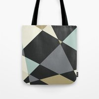 geo Tote Bags featuring Geo by SarahFlemingDesigns