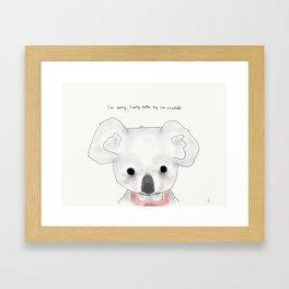 kimberly koala Framed Art Print