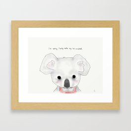 kimberly koala Framed Art Print