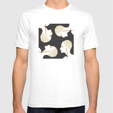 Golden Touch MEDIUM White Mens Fitted Tee