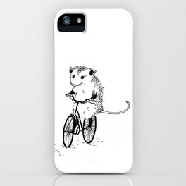 Opossums bike, too iPhone Case