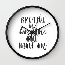 Breathe Quote Just Breathe Quote YOGA ZEN POSTER Wall Clock