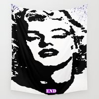 monroe Wall Tapestries featuring  Monroe by End One Art