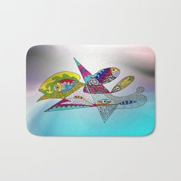 fantastic geometrical forms -3- Bath Mat