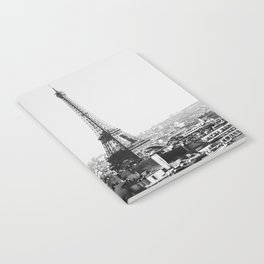 Paris City Sky // Eiffel Tower City Landscape Photography Shot from the top of Champs Elysees France Notebook