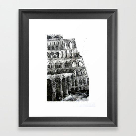 babel tower Framed Art Print