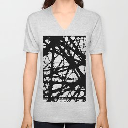 tension, black and white Unisex V-Neck