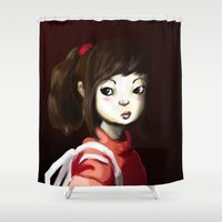 chihiro Shower Curtains featuring Spirited by Jaleesa McLean