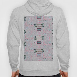 Chic Watercolour Tribal Pattern on a textured background Hoody