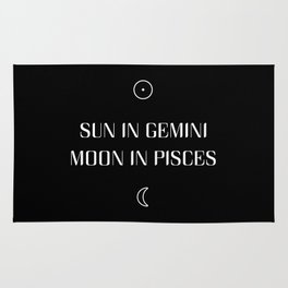 Gemini/Pisces Sun and Moon Signs Rug