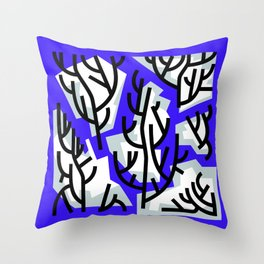 Winter Trees in Water Throw Pillow