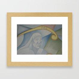 Mural peace Mother Teresa of Calcutta Framed Art Print