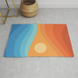 Colorful аbstract landscape Rug