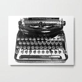 Remington Typewriter Metal Print