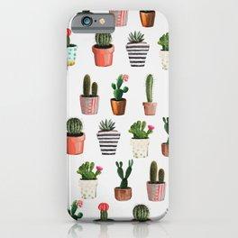 CACTI | Watercolor succulent cactus collection iPhone Case