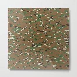 Camouflage: Woodland I Metal Print