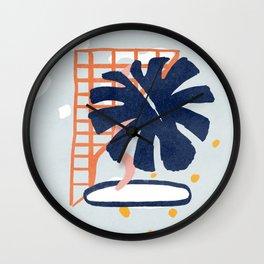 Colorful monstera design  Wall Clock