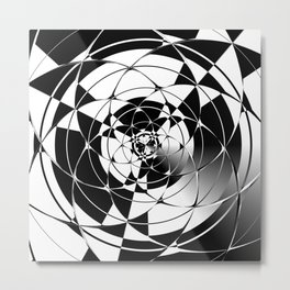 Black And White Affair Metal Print