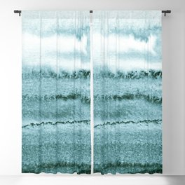 WITHIN THE TIDES - OCEAN TEAL Blackout Curtain