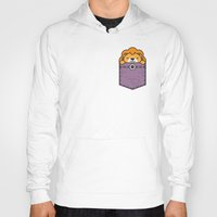 pocket Hoodies featuring Pocket Lion by Steven Toang
