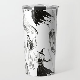 Happy Monsters (in white) Travel Mug
