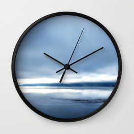 Soft winter sky Wall Clock