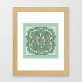 slightly floral, very green Framed Art Print