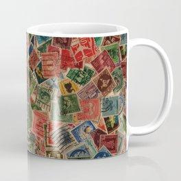 Vintage Postage Stamps Collection Coffee Mug