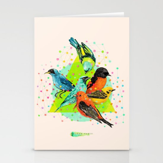 Colour Party III Stationery Cards