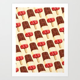 Ice Lolly Pattern - Fab Art Print
