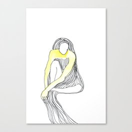 yellow dress Canvas Print