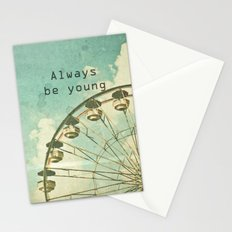 Always Be Young Stationery Cards