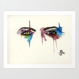 David Bowie Eyes Art Print