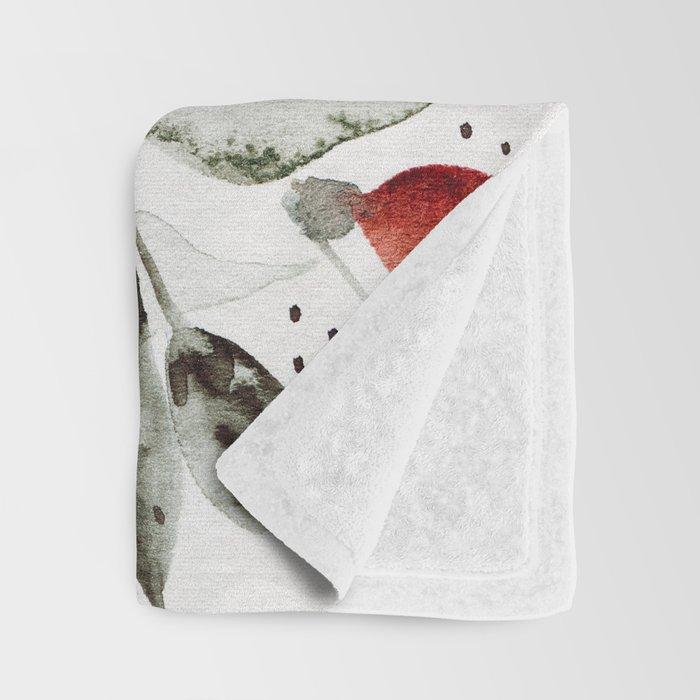 Loose Watercolor Bouquet Throw Blanket