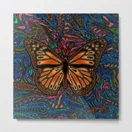 Monarch Butterfly Abstract Art Metal Print