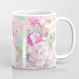 Vintage botanical blush pink mint green floral pattern Coffee Mug