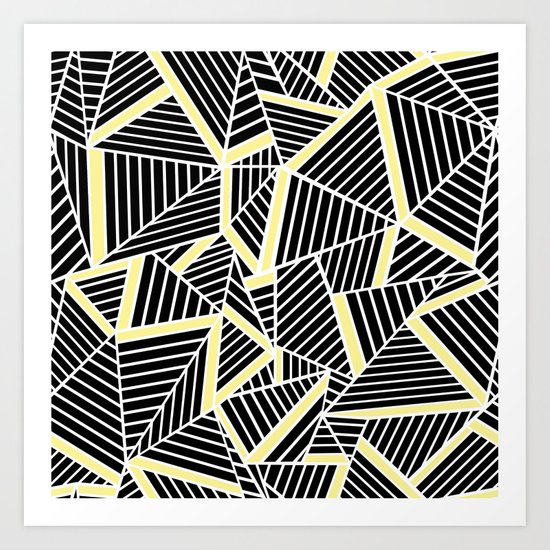 Ab Lines With Yellow Art Print