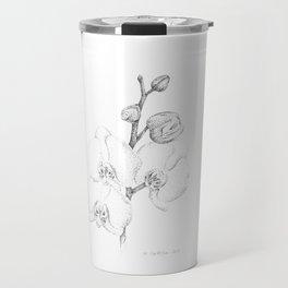 Dotwork phalaenopsis Travel Mug