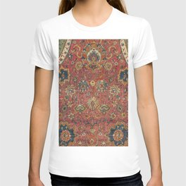 Persian Medallion Rug IV // 16th Century Distressed Red Green Blue Flowery Colorful Ornate Pattern T-shirt