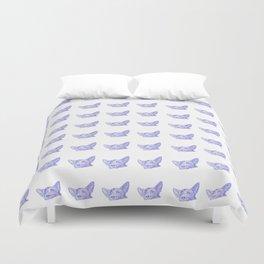 mitzi takes it easy, blue pattern Duvet Cover