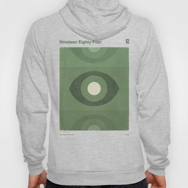 George Orwell Nineteen Eighty-Four - Minimalist literary design, bookish gift Hoody
