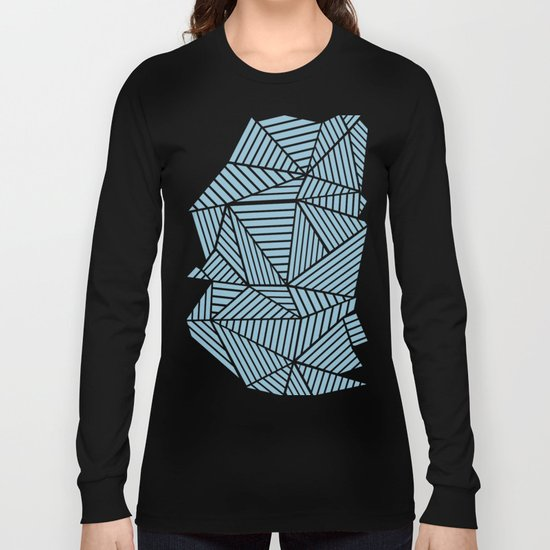 Ab Lines Sky Blue Long Sleeve T-shirt