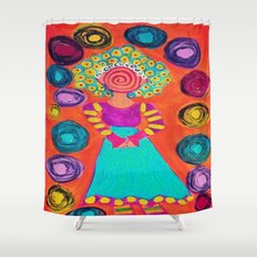 Spiralling Shower Curtain