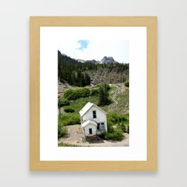 Switchbacks Down from Red Mountain Pass to the Idarado Mine Framed Art Print