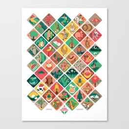 Loteria Geometrica Canvas Print