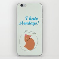 anchorman iPhone & iPod Skins featuring Anchorman 2 - I hate Mondays Minimalist design. Cat by Adam Craft