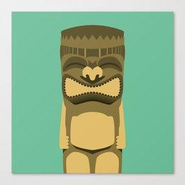 Brown Tiki Canvas Print